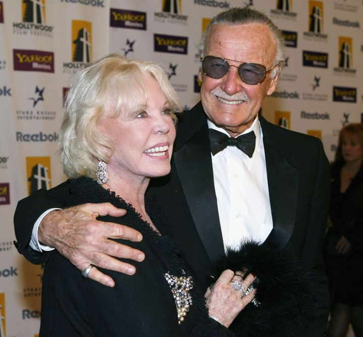 Stan Lee (right) died Monday; his wife Joan (left) died last year.