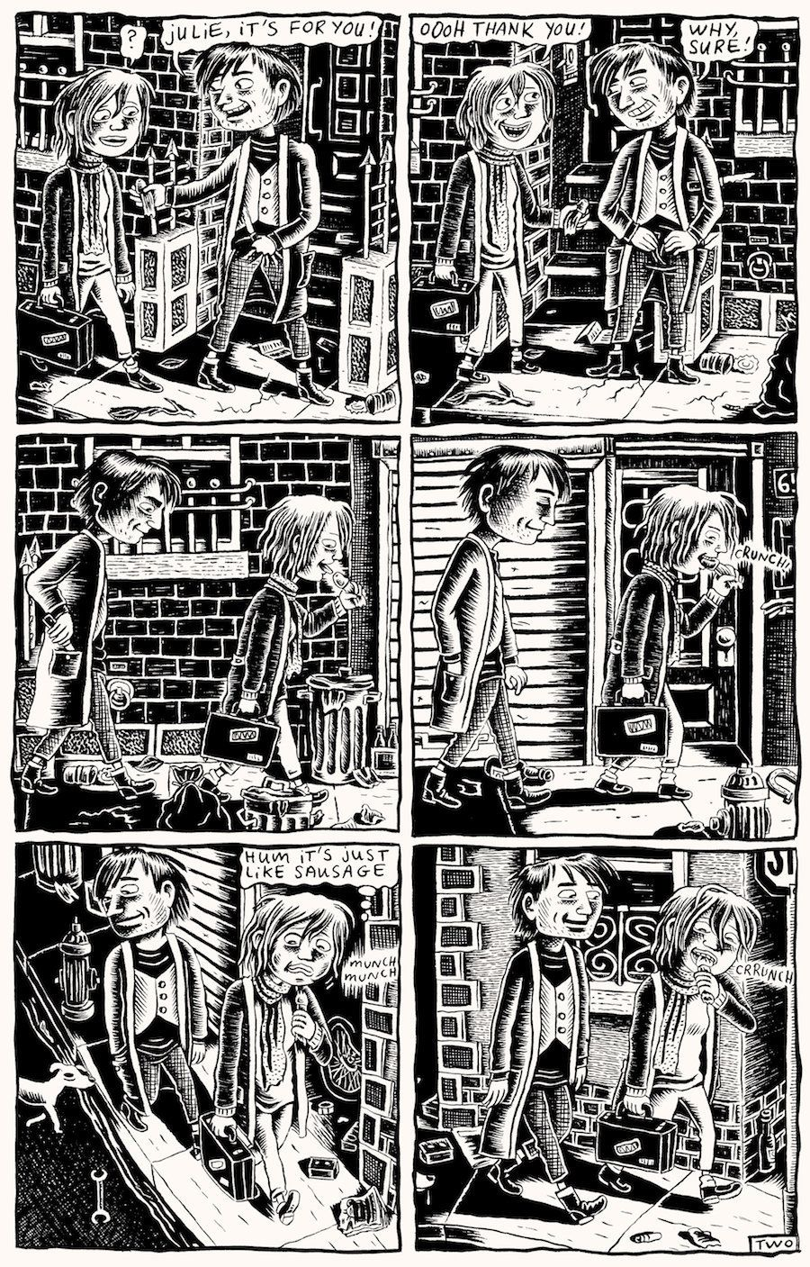"""A strip from Doucet's series of semiautobiographical comics, """"Dirty Plotte."""""""