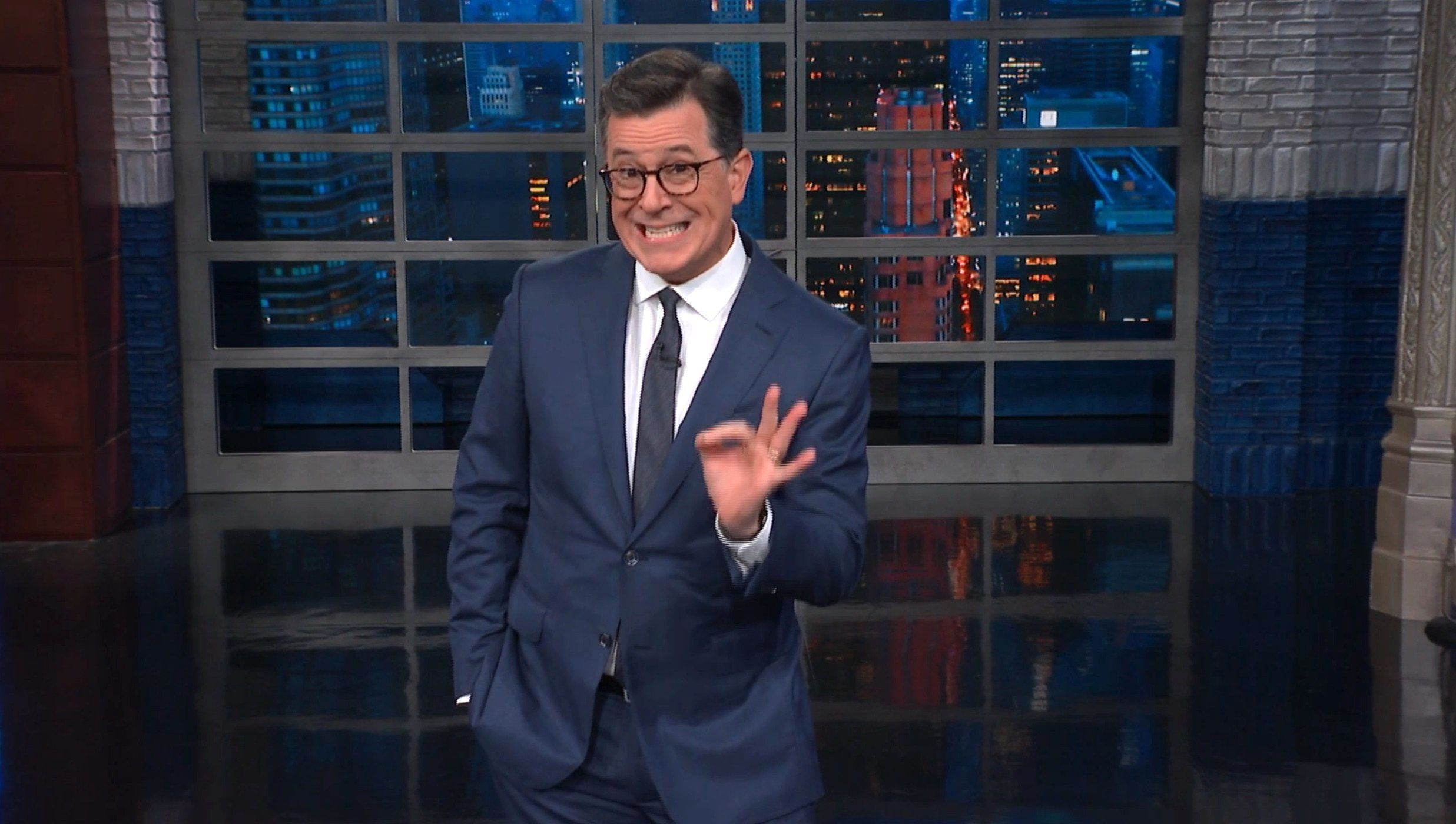 Colbert Has A Peek At Melania's Hilarious Parting Gift To Fired White House