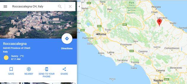 로마에서 약 200km