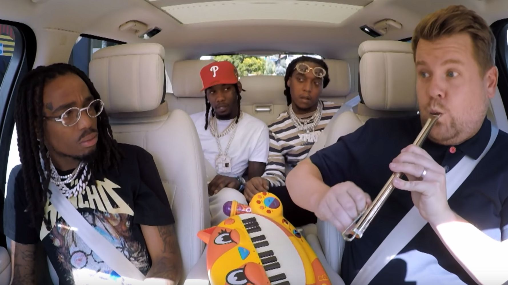 James Corden Learns Not To Mess With Migos Sound On Carpool