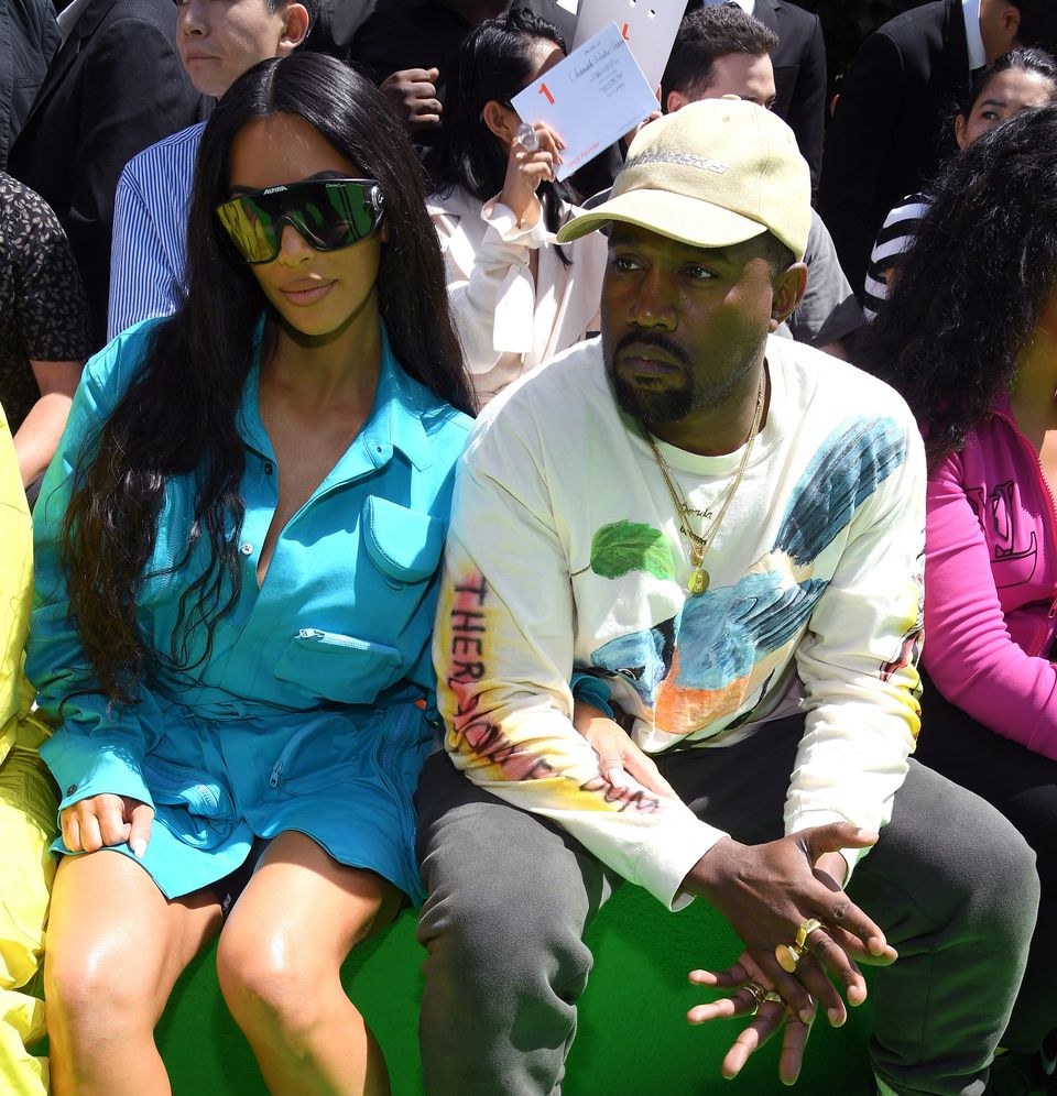 Kim Kardashian and Kanye West are seen in Paris on June 21,
