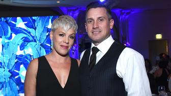 BEVERLY HILLS, CA - OCTOBER 04:  P!nk and Carey Hart attend Autism Speaks' 'Into The Blue' Gala at Beverly Hills Hotel on October 4, 2018 in Beverly Hills, California.  (Photo by Araya Diaz/Getty Images for Autism Speaks)