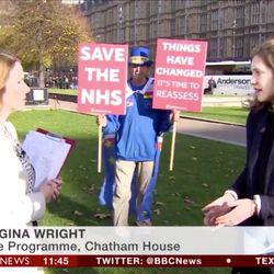 The BBC Had A Hilarious Duel With A Brexit Protestor And