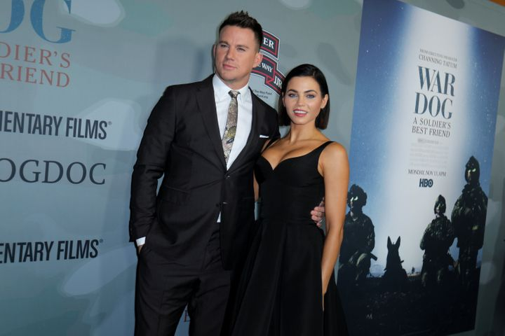 Channing Tatum and Jenna Dewan in what turned out to be their last public appearance together as a couple last November at a