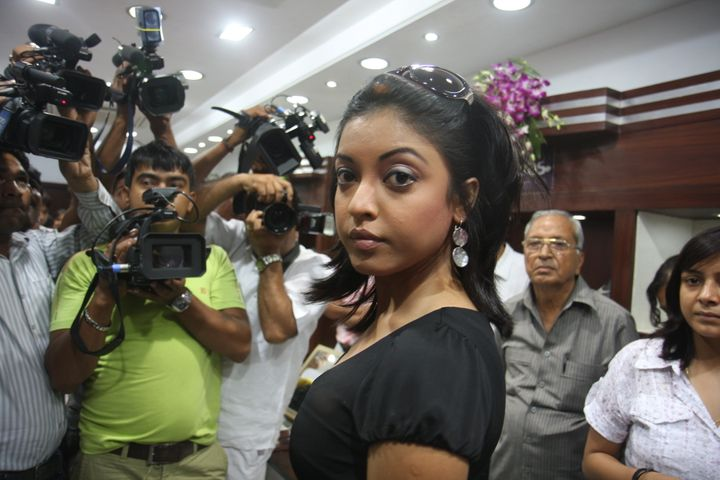 Bollywood actress Tanushree Dutta photographed during an event, on July 30, 2008, in New Delhi.