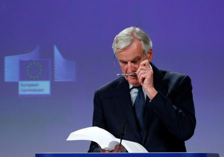 Michel Barnier held a press conference in Brussels.