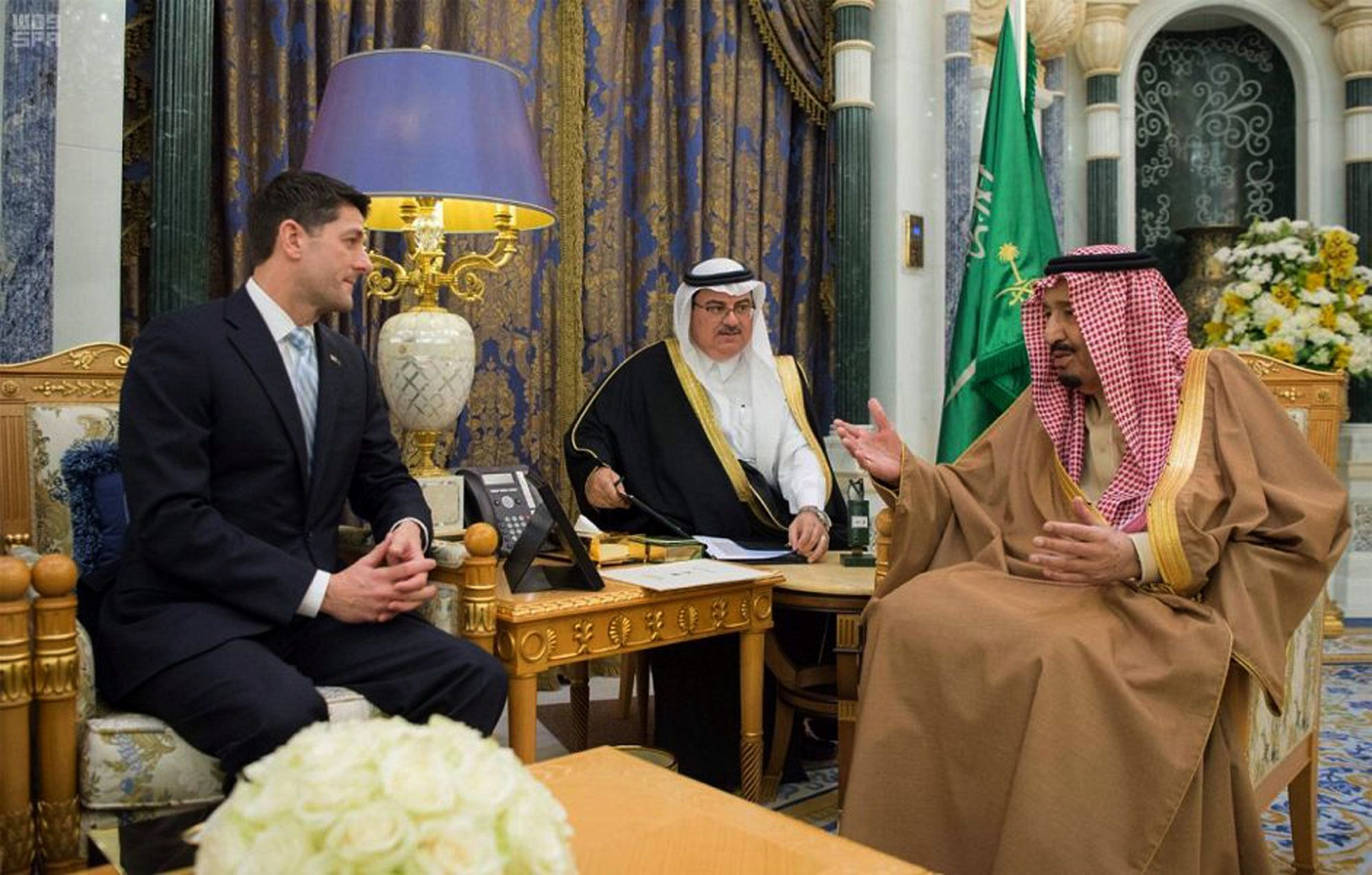 Speaker Paul Ryan made a big goodwill gesture to Saudi Arabia and its King Salman.