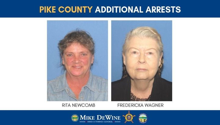 Rita Newcomb, 65, and Fredericka Wagner, 76, were also taken into custody on Tuesday.