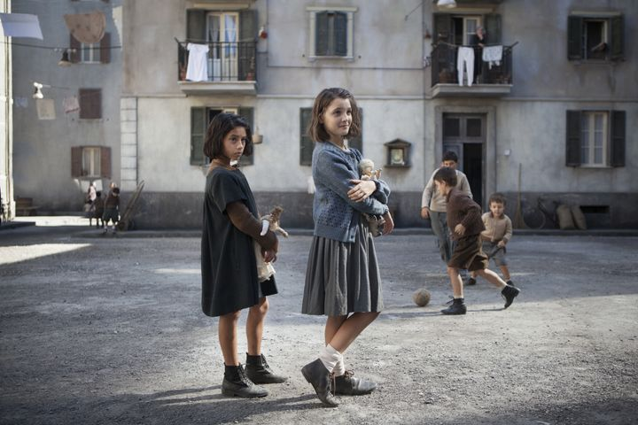 Ludovica Nasti as young Lila and Elisa Del Genio as young Elena.
