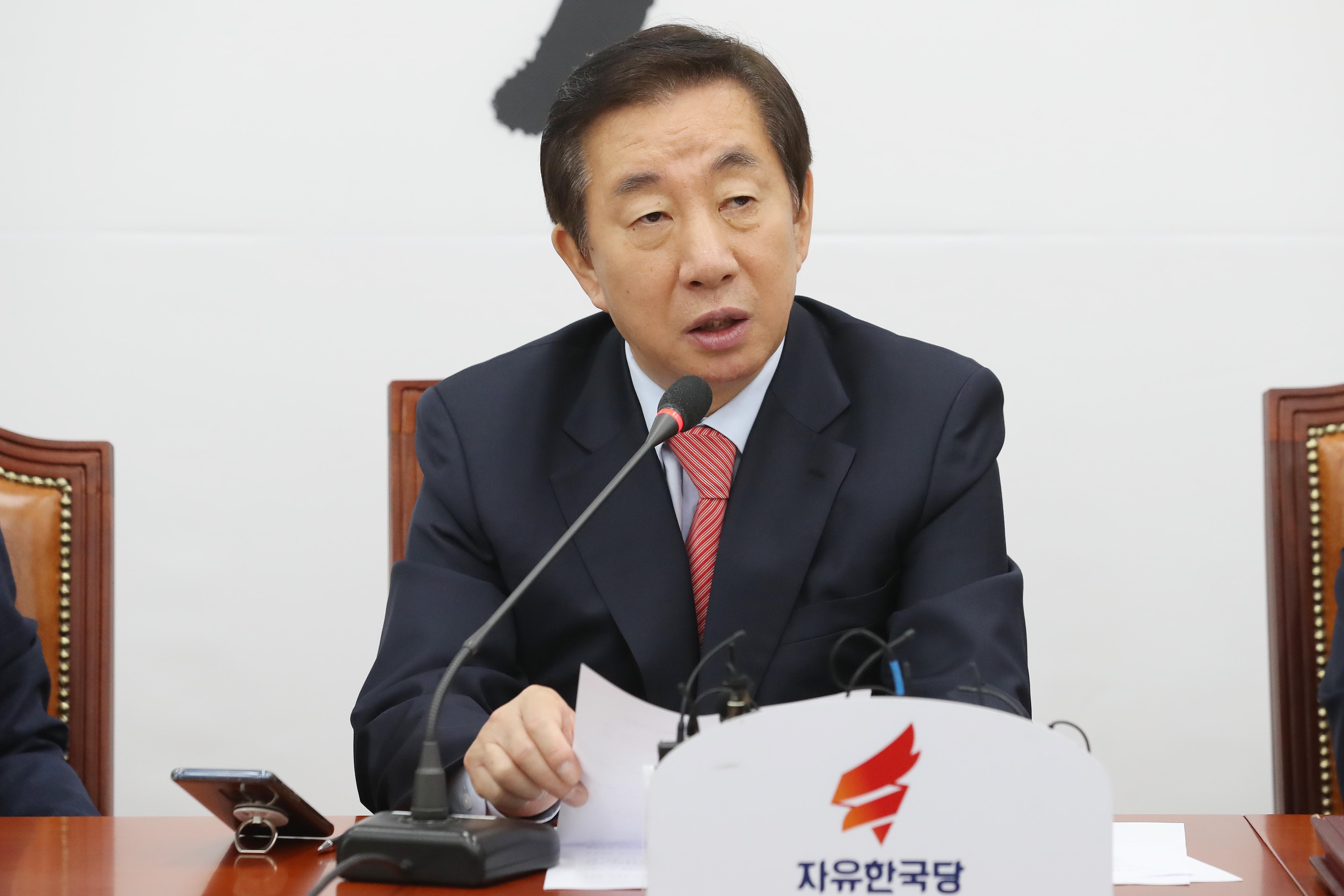 자유한국당이 한유총과 한 목소리를 내고
