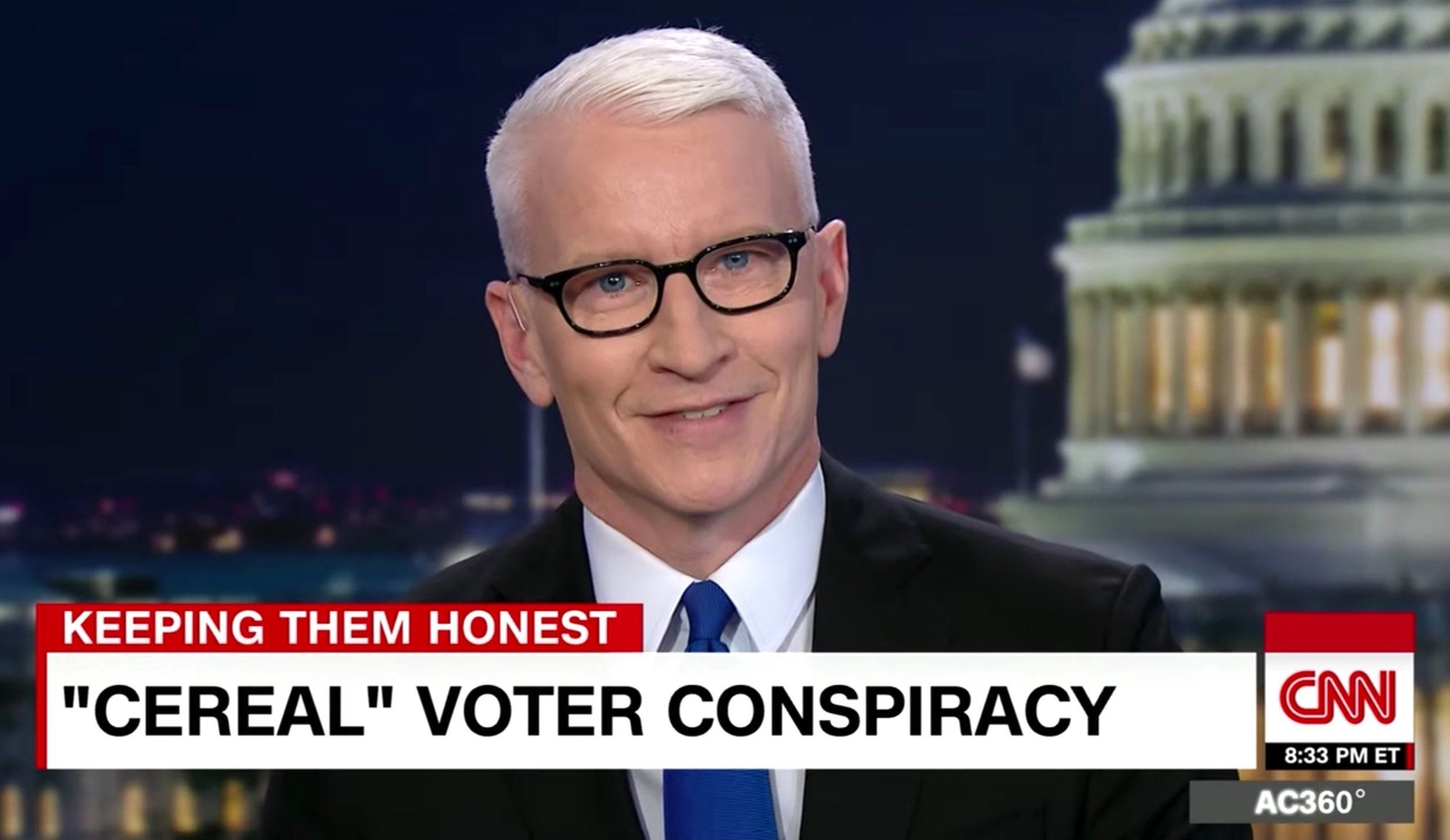 Anderson Cooper Mocks Trump's New Claims With Circus Clown