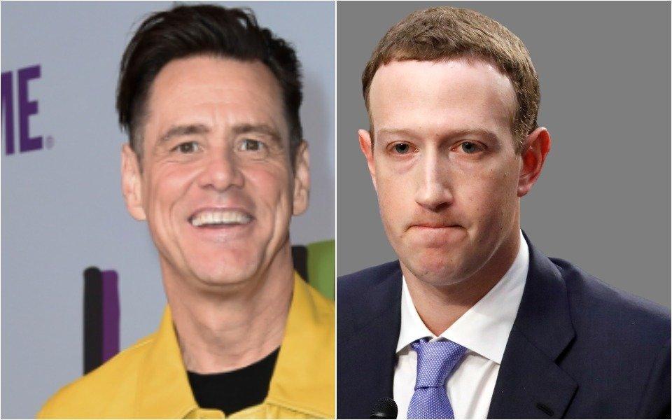 Jim Carrey and Mark Zuckerberg