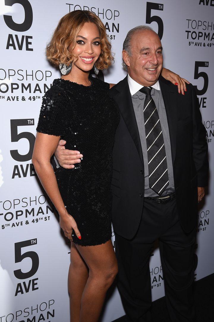 Beyoncé and Sir Phillip Green.