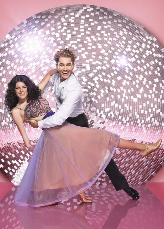 Lauren and AJ in their official 'Strictly'