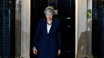 Britain's Prime Minister Theresa May, prepares to make a statement outside 10 Downing Street, in London, Britain November 14, 2018.    REUTERS/Henry Nicholls
