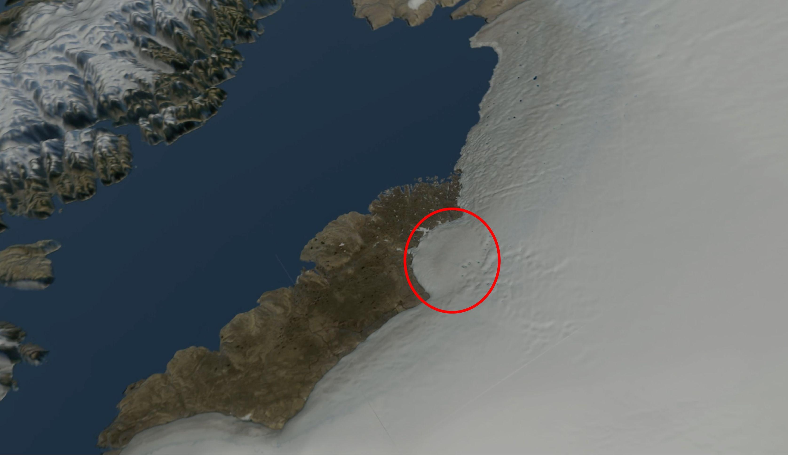 Μυστήριο με τεράστιο κρατήρα μετεωρίτη που ανακαλύφθηκε κάτω από τόνους πάγου στη