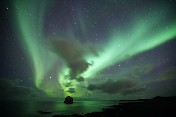 The Northern Lights, as seen from Iceland