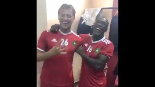 Hervé Renard et Clarence Seedorf tout sourires avant le choc