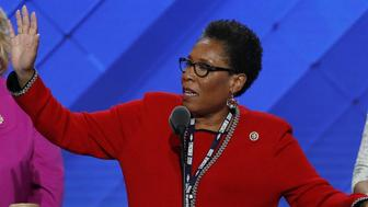 U.S. Rep. Marcia Fudge, opening the 2016 Democratic National Convention on Monday, addressed a raucous crowd of both Hillary Clinton and Bernie Sanders supporters. Photo: AP
