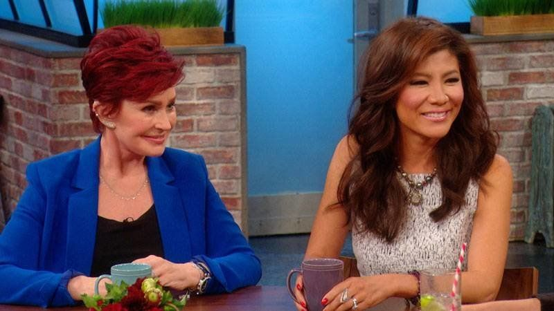 """Sharon Osbourne praised former """"Talk"""" cohost Julie Chen's bravery but ripped into her husband's halitosis."""