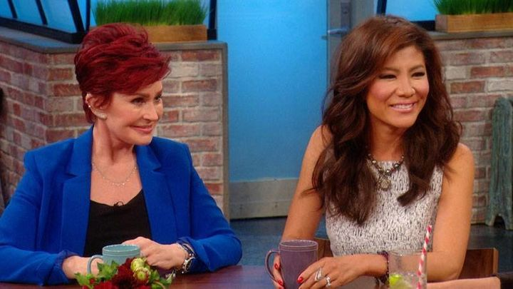 "Sharon Osbourne praised former ""Talk"" cohost Julie Chen's bravery but ripped into her husband's halitosis."