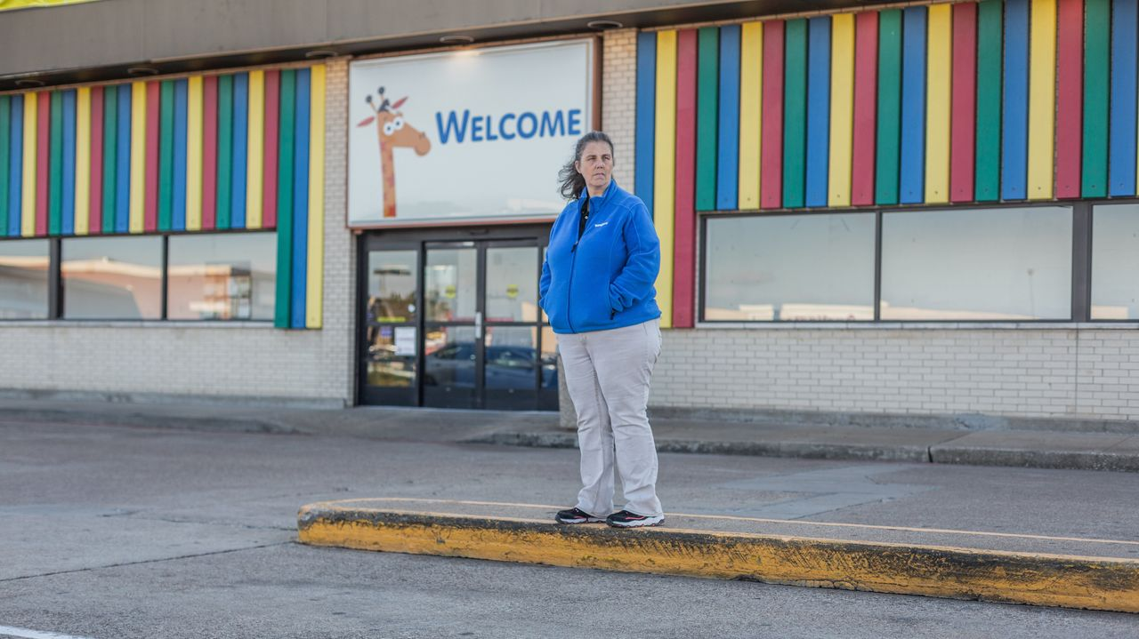 Maryjane Williams, shown Nov. 13 at the Waco, Texas, Toys R Us store where she used to be a manager. Williams worked for the company for 20 years.
