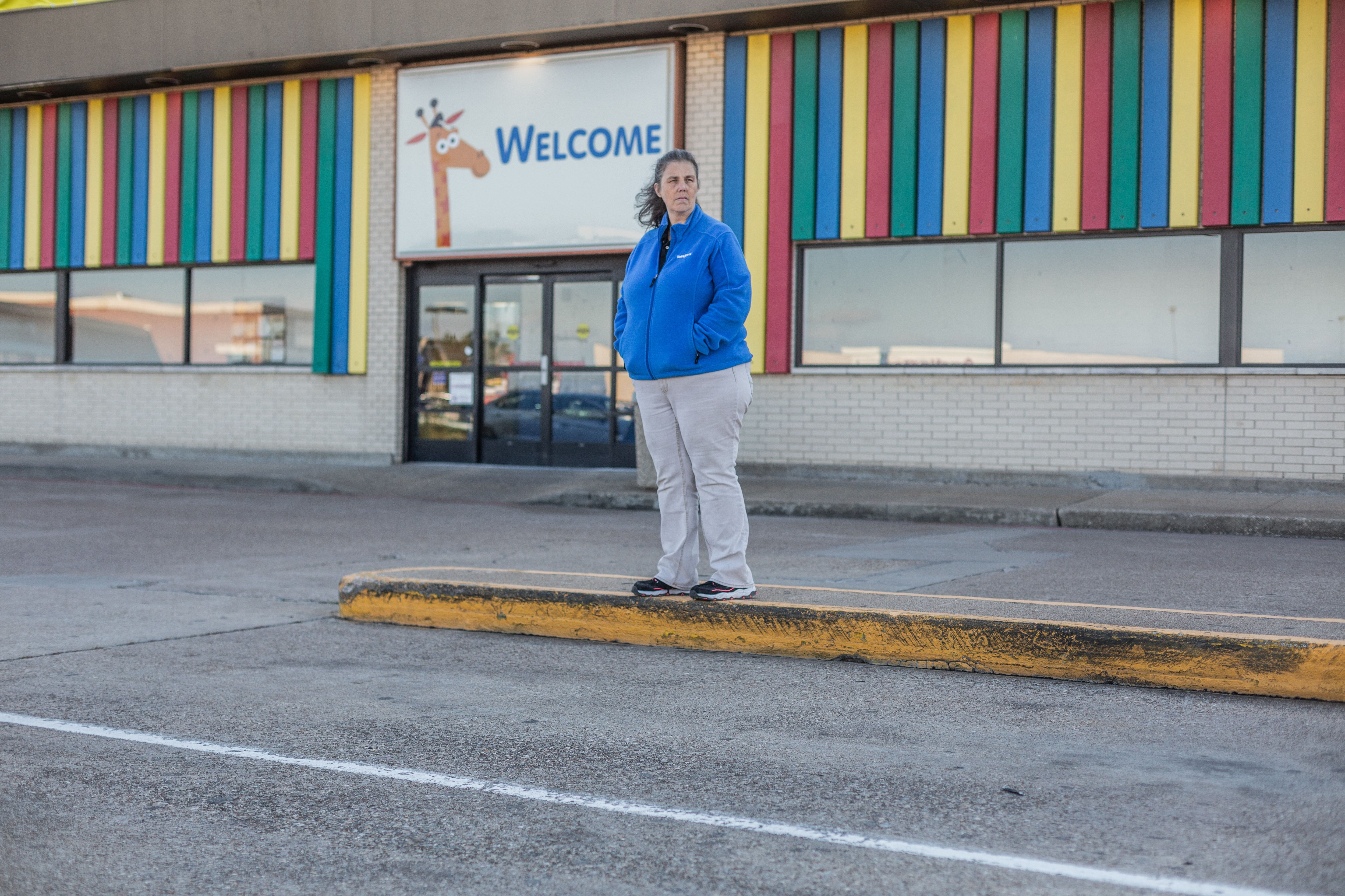 Maryjane Williams poses for a portrait in front of a Toys R Us Tuesday November 13, 2018 in Waco, Texas. Williams worked for the company for 20 years before being laid off when the company shut down in 2018.