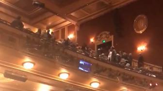 Outburst at Hippodrome theater