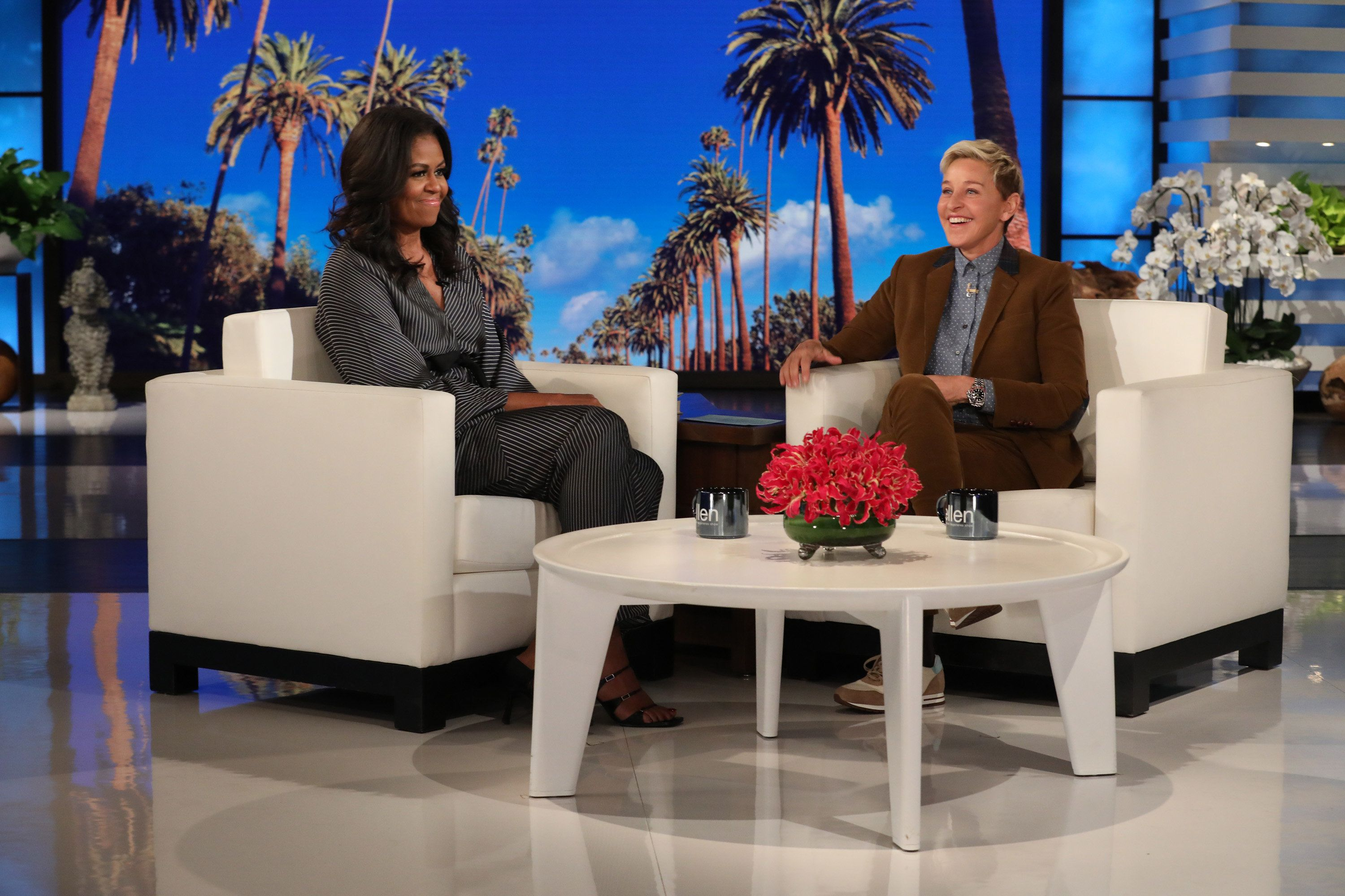 Michelle Obama Zings Trump's Inauguration Crowd Size On Ellen's