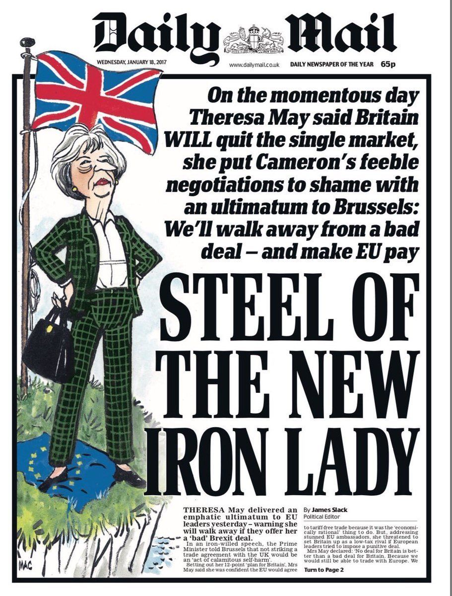 The Daily Mail had declared Theresa May 'the new Iron