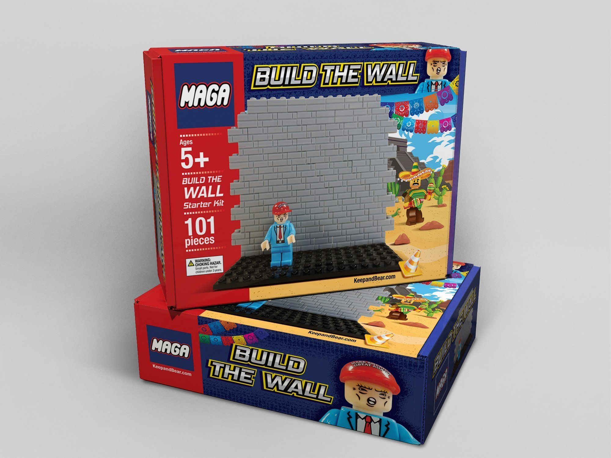"MAGA building blocks help kids ""build the wall."""