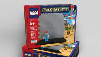"MAGA building blocks help kids ""build the wall."""