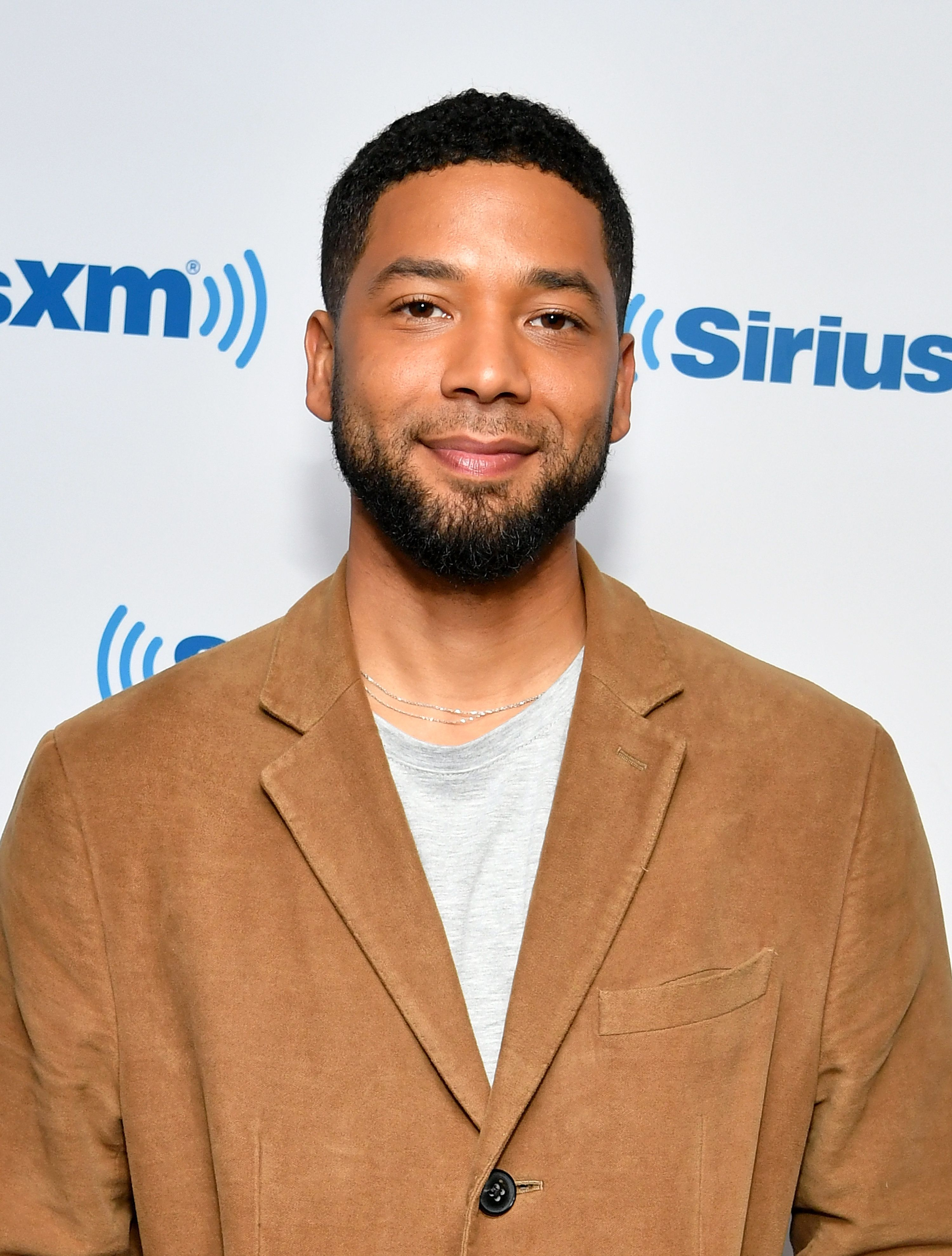 NEW YORK, NY - NOVEMBER 14:  (EXCLUSIVE COVERAGE) Actor Jussie Smollett visits SiriusXM Studios on November 14, 2018 in New York City.  (Photo by Slaven Vlasic/Getty Images)