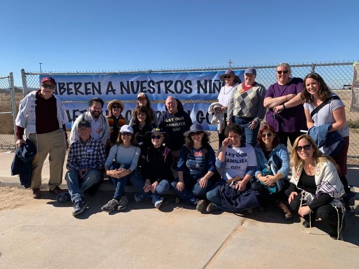 "Activists with the ""Let Our Families Go"" protest drove from Ann Arbor, Michigan, to Tornillo, Texas."