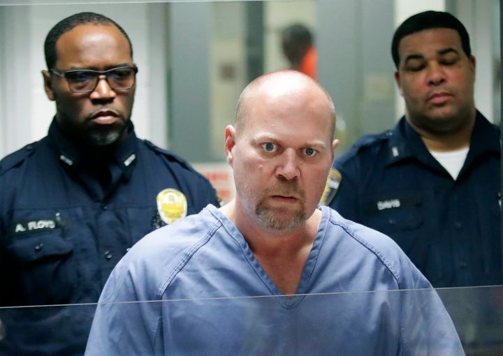 Gregory Bush is arraigned on two counts of murder and 10 counts of wanton endangerment in Louisville, Kentucky.