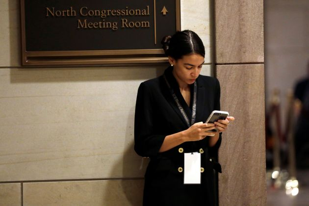 Alexandria Ocasio-Cortez in Washington.