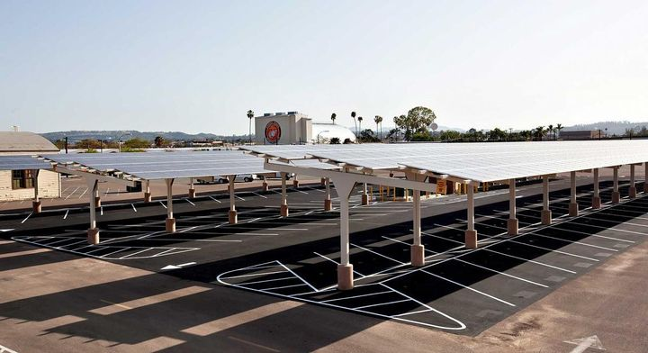 A solar installation at Marine Corps Air Station Miramar in San Diego, California.