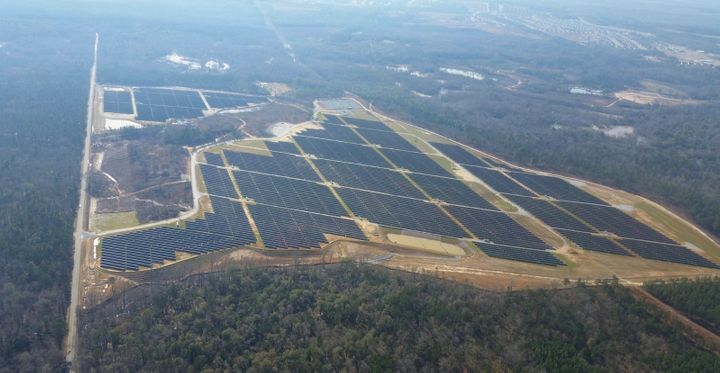 The Fort Benning solar facility.