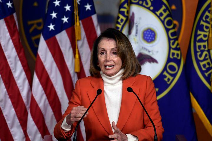 House Minority Leader Nancy Pelosi (D-Calif.) speaks during a press conference on Thursday, Nov. 15, 2018. Pelosi faces a rev