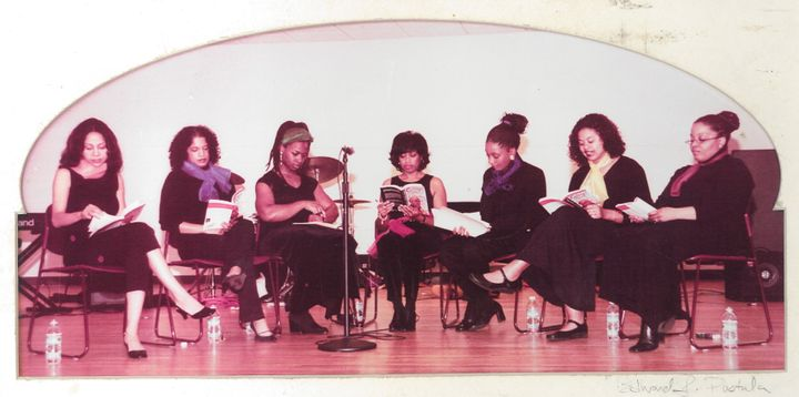 "The author and her former colleagues perform a reading of ""For Colored Girls Who Have Considered Suicide When the Rainbow Is"