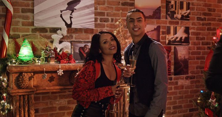 "Kat Graham and Quincy Brown star in Netflix's ""The Holiday Calendar."""