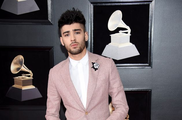 Zayn Malik arrives at the 60th annual Grammy Awards at New York's Madison Square Garden on Jan. 28,
