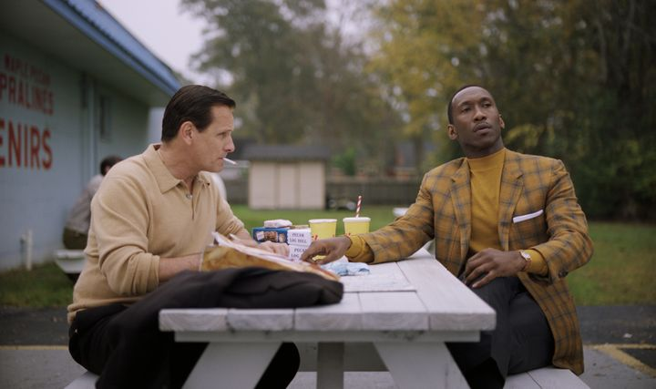 "Viggo Mortensen and Ali in ""Green Book."""