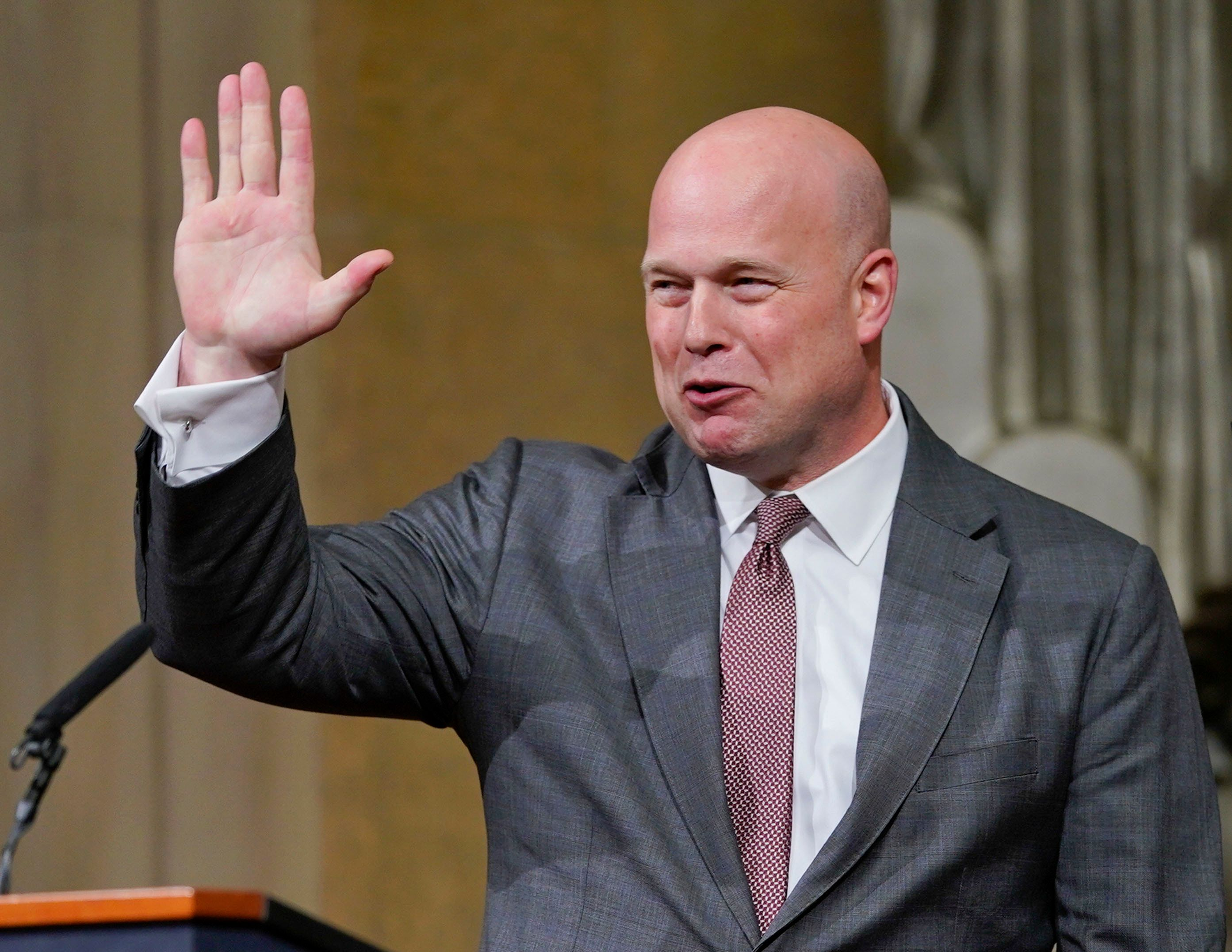 Trump's choice of Matthew Whitaker to run the Justice Department is under attack in the courts.
