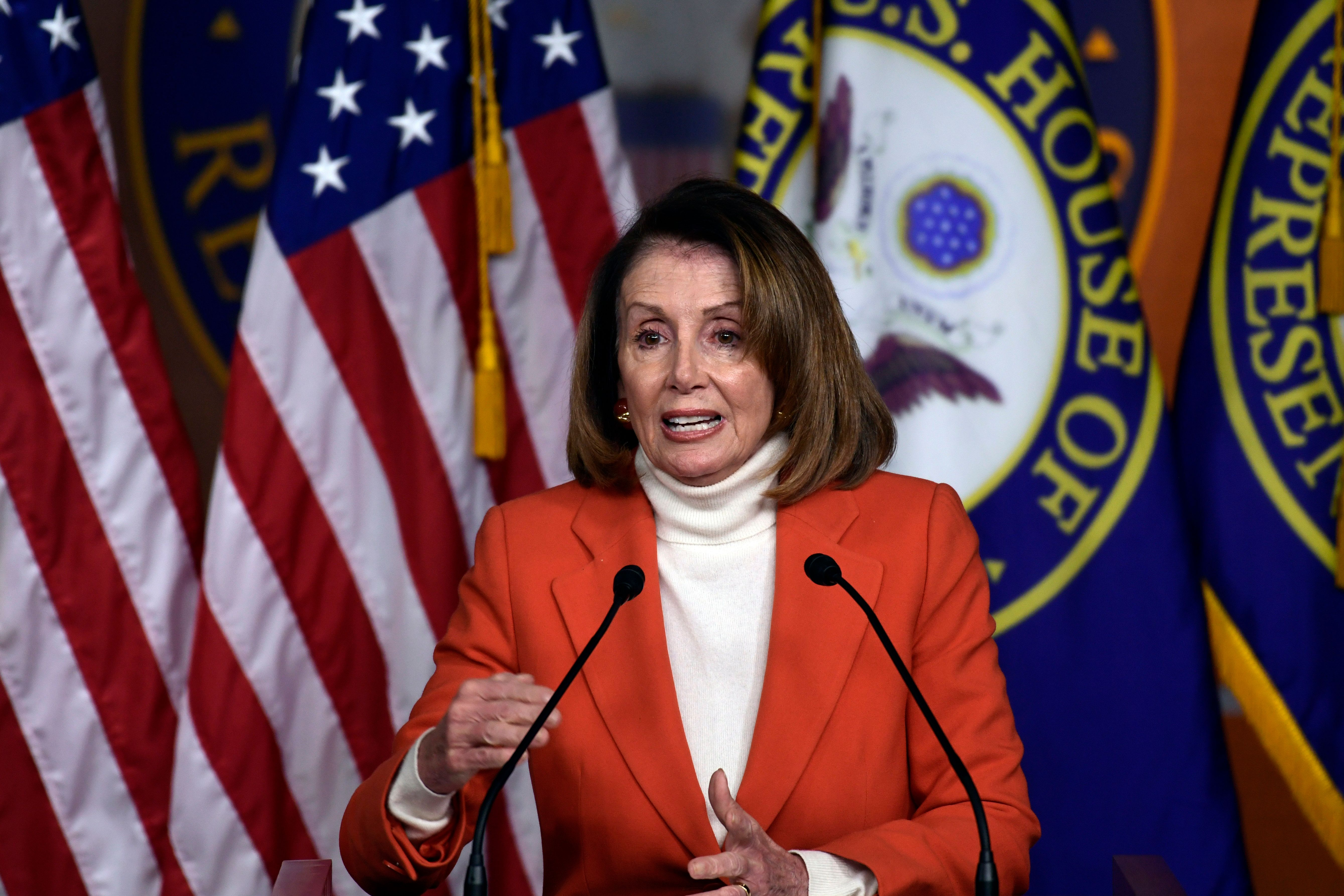 House Minority Leader Nancy Pelosi of Calif., speaks during a news conference on Capitol Hill in Washington, Thursday, Nov. 15, 2018. (AP Photo/Susan Walsh)