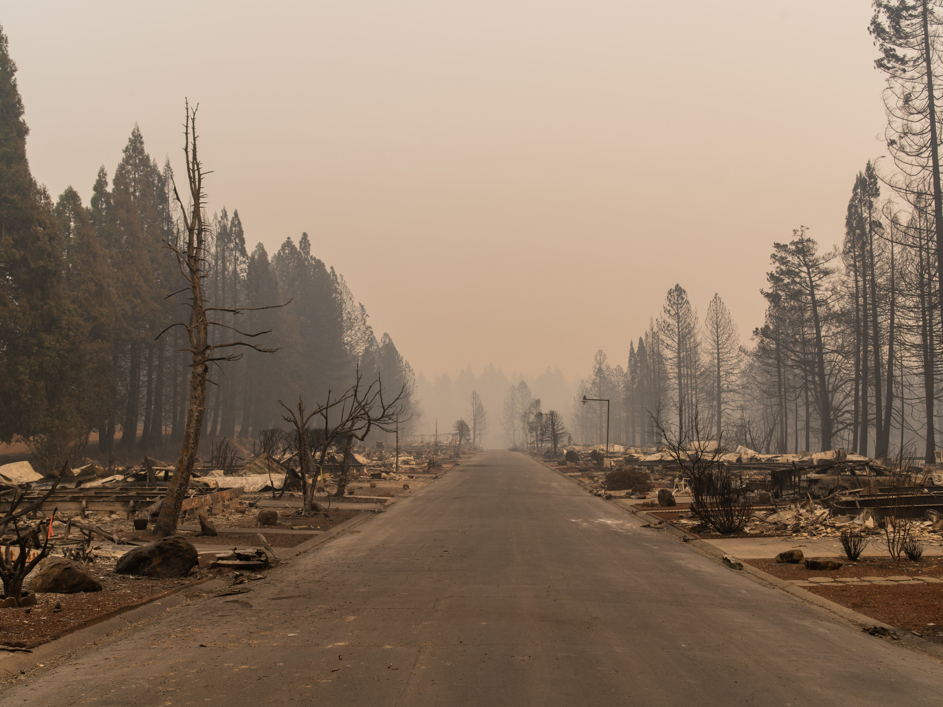 No mobile homes in the Ridgewood Mobile Home Park were saved in the Camp fire.