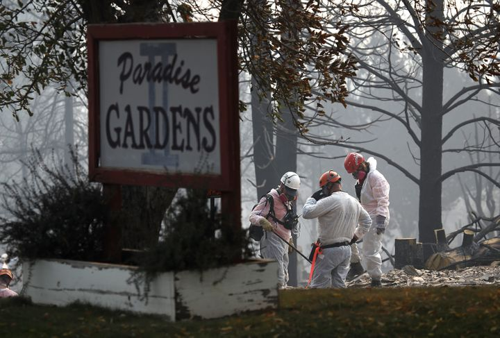 Investigators continue to scour the town of Paradise in their search for additional remains.