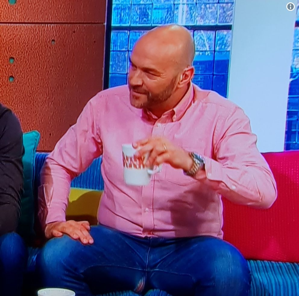 Simon Rimmer Split His Trousers On 'Sunday Brunch' And Even Prue Leith's Necklace Couldn't Distract