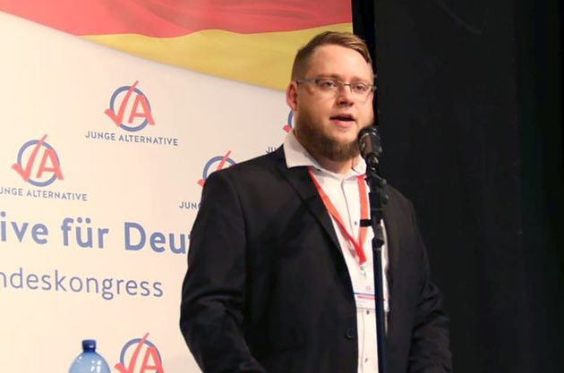 Moritz Brodbeck, der Vorsitzende des Landesverbandes Baden-Württemberg der Jungen Alternative.
